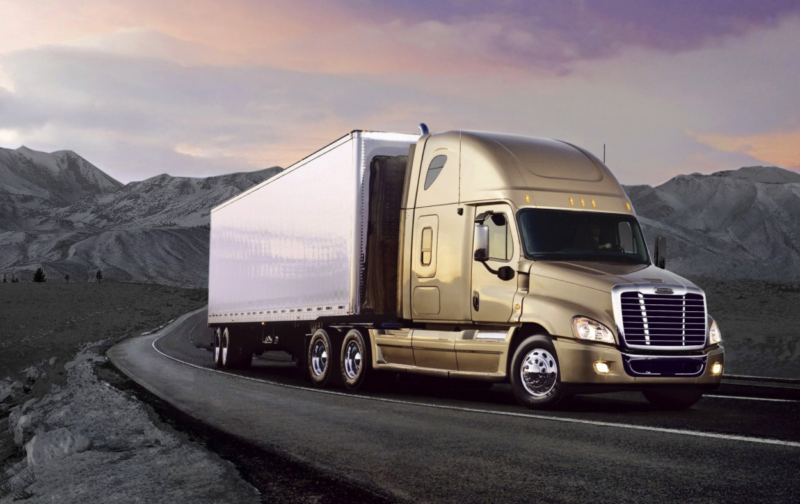 Gold Commercial Truck Driving