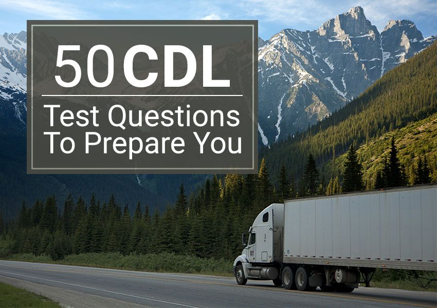 CDL Test Questions Truck Driving