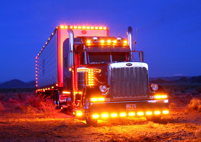 Custom Semi Trucks - Exterior LED Lights